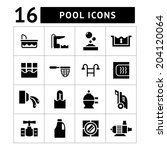 set icons of pool isolated on... | Shutterstock .eps vector #204120064