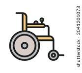 motorized wheelchair icon...   Shutterstock .eps vector #2041201073