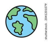 world map icon vector image....   Shutterstock .eps vector #2041201079