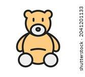 teddy bear icon vector image....   Shutterstock .eps vector #2041201133