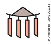 wind chime icon vector image....   Shutterstock .eps vector #2041201166