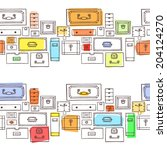 collection of drawers. vector... | Shutterstock .eps vector #204124270