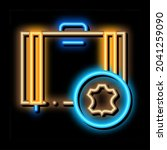 leather luggage neon light sign ...   Shutterstock .eps vector #2041259090