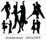 dancing people silhouette... | Shutterstock .eps vector #20412595