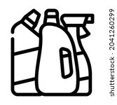 domestic chemical and detergent ...   Shutterstock .eps vector #2041260299