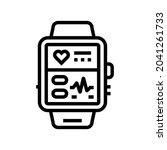 fitness bracelet electronic... | Shutterstock .eps vector #2041261733