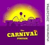 carnival funfair banner....   Shutterstock .eps vector #2041265966