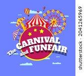 carnival funfair banner....   Shutterstock .eps vector #2041265969
