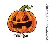 happy halloween. cartoon cute... | Shutterstock .eps vector #2041303886