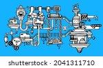vector illustration of black... | Shutterstock .eps vector #2041311710