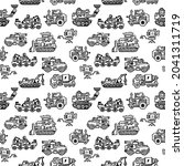 vector seamless pattern with... | Shutterstock .eps vector #2041311719