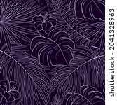tropical seamless natural... | Shutterstock .eps vector #2041328963