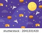 mid autumn festival background. ... | Shutterstock .eps vector #2041331420