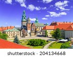 A View Of A Wawel Castle With...