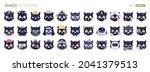 emoji cats. different...