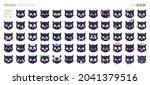 emoji cats set isolated....