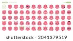 emoji pigs set isolated....