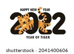 happy new year 2022  year of...   Shutterstock .eps vector #2041400606