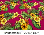 vintage seamless tropical... | Shutterstock . vector #204141874