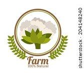 farm design over white... | Shutterstock .eps vector #204148240