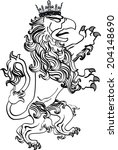 gryphon tattoo isolated in... | Shutterstock .eps vector #204148690
