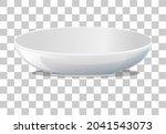white plain plate on... | Shutterstock .eps vector #2041543073