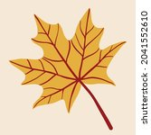 simplicity maple leaf freehand... | Shutterstock .eps vector #2041552610