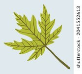simplicity maple leaf freehand... | Shutterstock .eps vector #2041552613