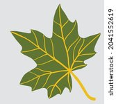 simplicity maple leaf freehand... | Shutterstock .eps vector #2041552619