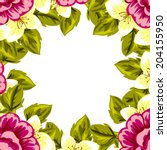 abstract flower background with ... | Shutterstock .eps vector #204155950