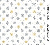 seamless pattern with doodle... | Shutterstock .eps vector #2041583003