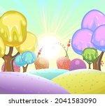 candy background. cartoon sweet ... | Shutterstock .eps vector #2041583090