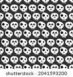 halloween seamless pattern...   Shutterstock .eps vector #2041593200