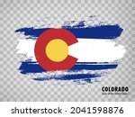 flag of colorado from brush...