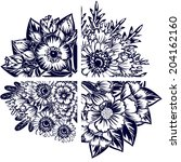 flower set | Shutterstock . vector #204162160