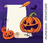 happy halloween. cartoon cute... | Shutterstock .eps vector #2041651640