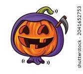 happy halloween with cartoon... | Shutterstock .eps vector #2041652753