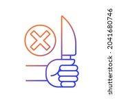 no sharp objects gradient...   Shutterstock .eps vector #2041680746