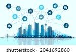 vector flat illustration. smart ... | Shutterstock .eps vector #2041692860