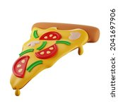 3d slice of pizza with...