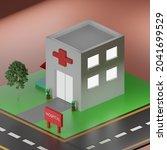 model 3d model hospital medical    Shutterstock .eps vector #2041699529