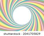 colorful swirl frame in gentle...   Shutterstock .eps vector #2041705829