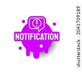 purple notification icon label... | Shutterstock .eps vector #2041709189