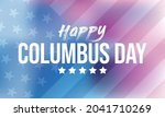 columbus day is observed every... | Shutterstock .eps vector #2041710269