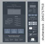 landing page design. dark site...