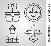 aviation symbol collection on...   Shutterstock .eps vector #2041725716