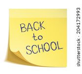 hand drawn back to school... | Shutterstock .eps vector #204172993