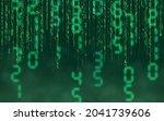green matrix digital background....   Shutterstock .eps vector #2041739606