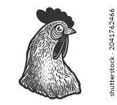 Chicken Head Sketch Engraving...
