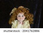 Blue Eyed Vintage Doll On...